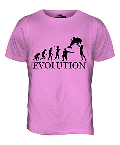 CandyMix Acquario Evoluzione Umana T-Shirt da Uomo Maglietta Rosa