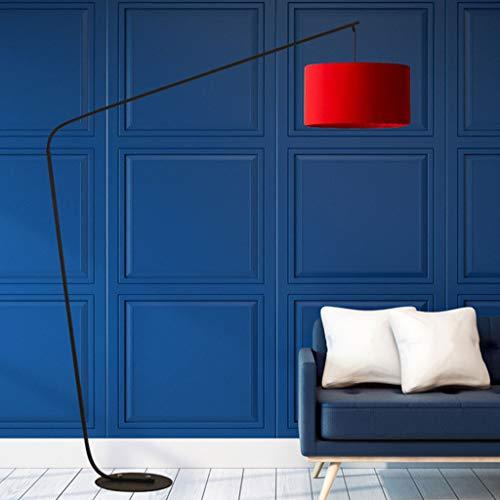 Floor Stand Lights - Nordic LED Arc Stehleuchte, Kreative Fernbedienung 12 Watt Dimmable Angeln Stehleuchte für Wohnzimmer Schlafzimmer - Design Fixture Lighting (Farbe : Red-Button switch)