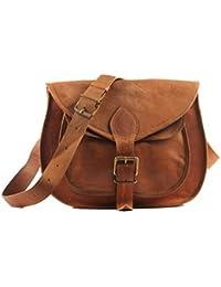 Genuine Leather Women's Sling Bag /Handbag / Tote/purse/ Shopping Bag Tan Color Tan ColourSize :( 7 X 3 X 9 )...