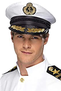 Smiffys Chapeau de capitaine, blanc, avec détails dorés (B004MNNZCG) | Amazon price tracker / tracking, Amazon price history charts, Amazon price watches, Amazon price drop alerts