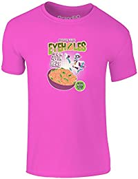Brand88 - Eyehole Cereal, Camiseta para niños