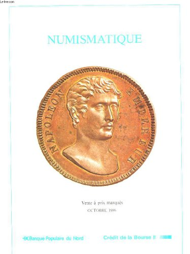CATALOGUE DE VENTE - NUMISMATIQUE