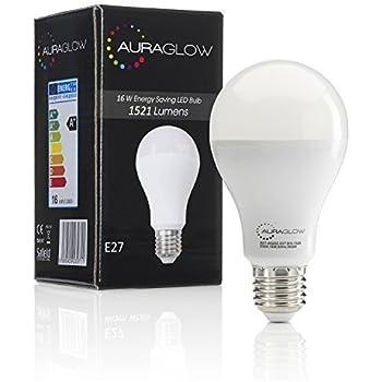 AURAGLOW 15w LED Glühlampe Lampe E27 Schraubsockel, Tageslicht-Weiß ...