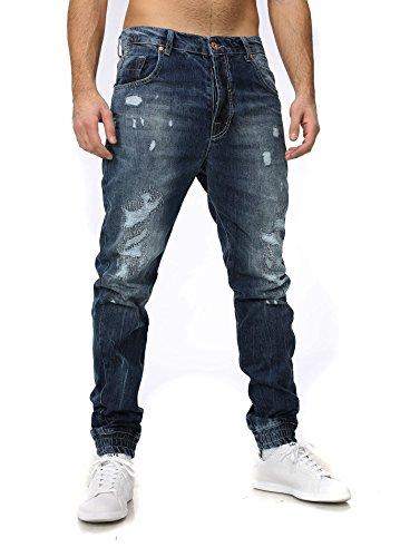 VSCT Clubwear Uomo Jeans / Antifit Noah Cuffed Blu
