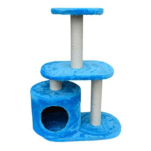 LuckyPet Rascador para gato Arbor Juguete Azul Beige Afilador Centro j