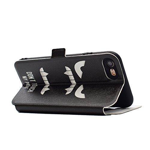 Apple iPhone 7 4.7 hülle, Voguecase Kunstleder Tasche PU Schutzhülle Tasche Leder Brieftasche Hülle Case Cover (Sichtfenster/Bunt Schmetterling 05) + Gratis Universal Eingabestift Sichtfenster/My Phone 10