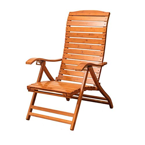 Sedia per il tempo libero sedia a dondolo di bambù sedia per pausa pranzo uomo in legno massello sedia a dondolo sedia pigra poltrona imbottita, cuscino per seduta, staccabile