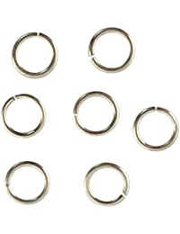 5 Pcs Open Jump Ring in 925 Sterling Silver, 0.9mm Thickness, 6mm Diameter (Other Sizes Available: 4mm, 6mm, 8mm, 10mm)