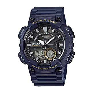 Casio Youth-Combination Analog-Digital Black Dial Men's Watch – AEQ-110W-2AVDF (AD208)