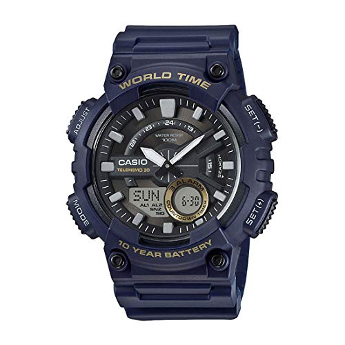 Casio Youth-Combination Analog-Digital Black Dial Men's Watch - AEQ-110W-2AVDF (AD208)