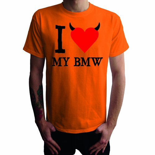 I don't love my BMW Herren T-Shirt Orange