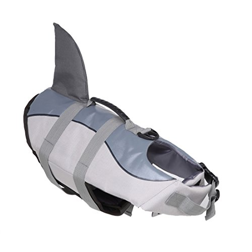 FishBabe Pets Cool Fashion Shark Form Life Jacke Funny anpassen Hund Schwimmweste Badebekleidung Kostüm mit ()