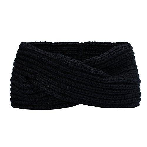 Oyedens Damen Gestrickt Stirnband Häkelarbeit Winter Kopfband Haarband, Winter Warm...