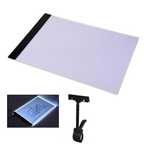TOUCHFIVE A4 LED luminosité Tablette Planche à Dessin Pour Dessein Tablette Lumineux Pad Avec Adaptateur et Cable USB - Ultra-Mince de 4mm (A4(338*238*4mm))