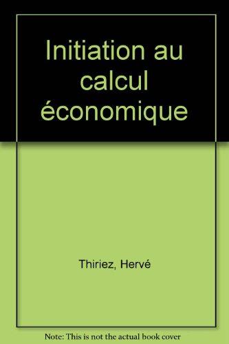 Initiation au calcul économique