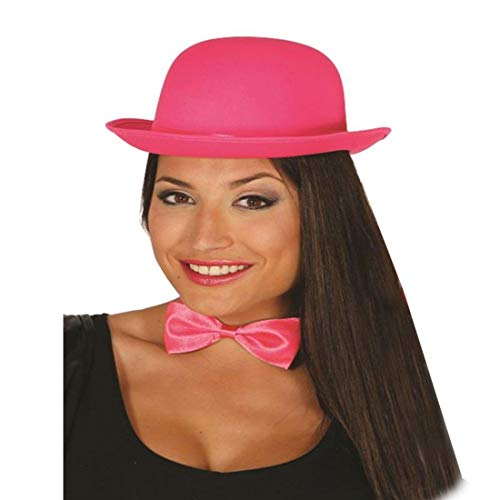 Islander Fashions Blower Hut Satin Finish Erwachsene Unisex Mode-Hut Zirkus-Karnevals-Kost�m Zubeh�r Rosa One Size (Laurel Und Hardy Fancy Dress Kostüm)