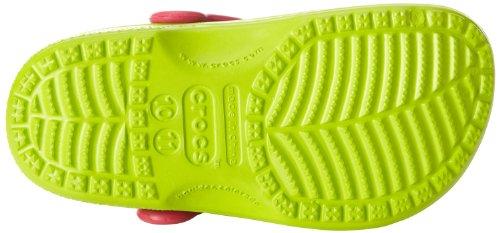 Crocs Classic Kids, Sabots Mixte Enfant Vert (Volt Green-Raspberry)
