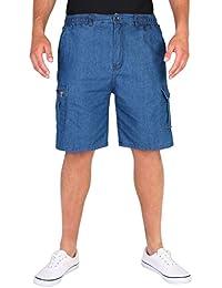 Herren Einfarbige Cargo Shorts Kurze Hose Baumwolle M L XL XXL XXXL