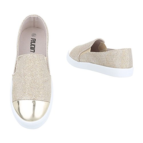 Ital-Design - Low-top Donna Gold
