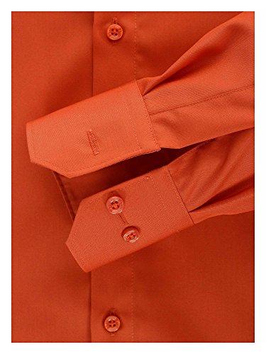 Venti Herren Businesshemd Auch Große Größen 100% Baumwolle Orangerot