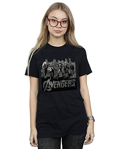 s Mono Team Art Boyfriend Fit T-Shirt Small Schwarz ()