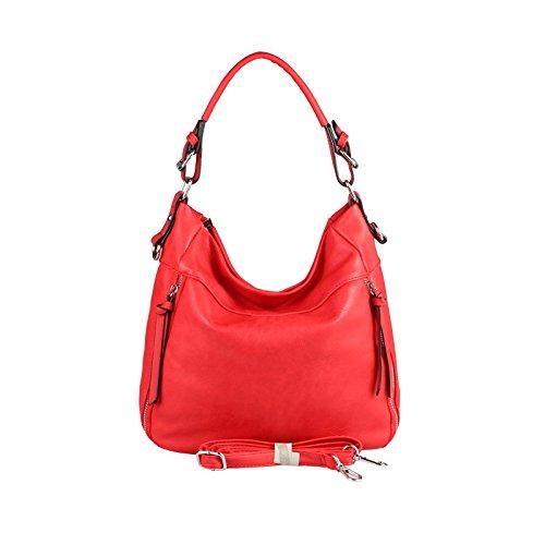 OBC Only-Beautiful-Couture, Borsa tote donna grigio Hellgrau 37x29x13 cm ca.: 37x29x13 cm (BxHxT) Rot 37x29x13 cm