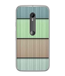 FUSON Designer Back Case Cover for Motorola Moto G3 :: Motorola Moto G (3rd Gen) :: Motorola Moto G3 Dual SIM (Strips Green Gray Sunmica Plywood Back Art)
