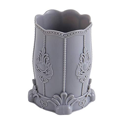 HKJhk Boîte de Rangement cosmétique Boîte de Finition de beauté Brosse de Seau Crayon à Sourcils Tube de Rangement de Brosse Cosmétique Oeuf de Stockage Femme (Couleur : Gray)