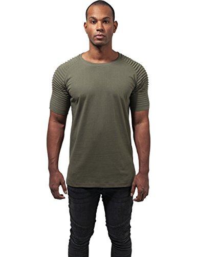 Urban Classic Herren T-Shirt Pleat Raglan Tee Grün (olive 176)