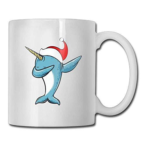 Christmas Dabbing Narwhal Custom Coffee Mugs 11 Oz Ceramic Tea Cup
