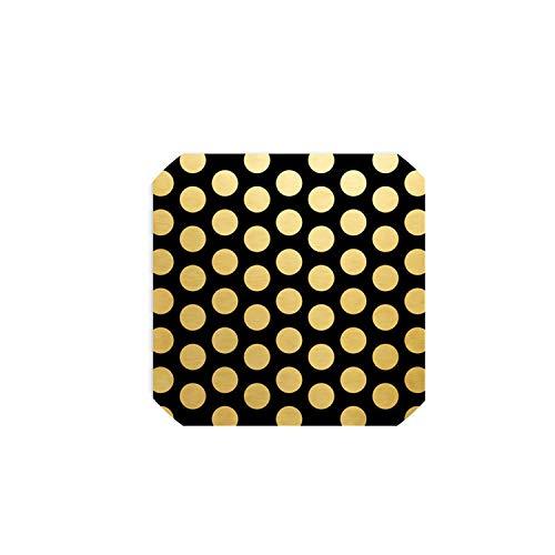 5Pcs / Lot Gold Point Glänzend Verpackungspapierblume Einwickelpapier Weihnachtsdekor für Haus, Schwarz