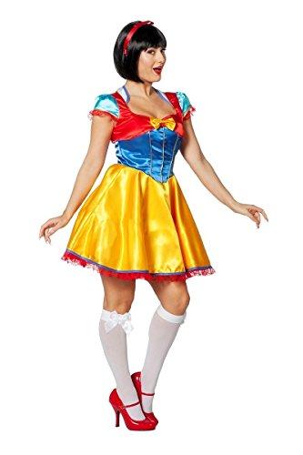 Schneewittchen Kostüm Damen Karneval Fasching Damenkostüm Gelb Blau Rot Kleid