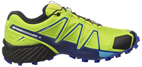 Salomon Speedcross 4, Chaussures de Trail Homme, Bleu Jaune (Lime Green/nautical Blue/hawaiian O)