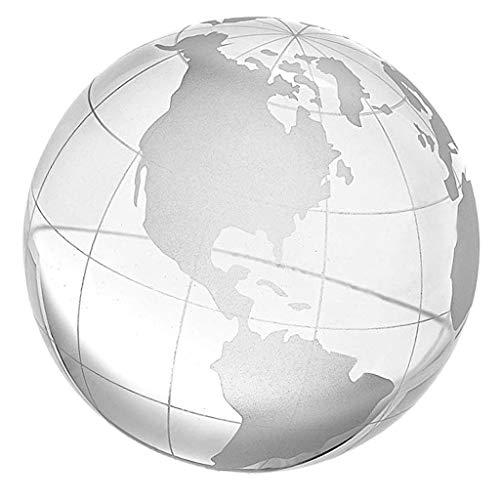 perfeclan 6/8/10cm Globo de Tierra Cristalino 3D Transparente Juego de Aprendizaje de Ciencia Regalo de Cumpleaños para Niños - 80mm