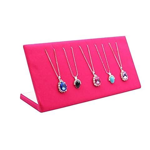 Colliers Rose Présentoir Bracelets Bijoux Plateau flanelle Tableaux d'affichage