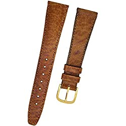 Fortis Swiss Brown Leather Watch Strap With Brown Stitching 16 mm 9117
