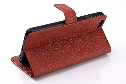 iPhone Case Cover la peau de cuir cas litchis modèle iphone 6 6 ( Color : Brown , Size : IPhone 6 6s ) Brown
