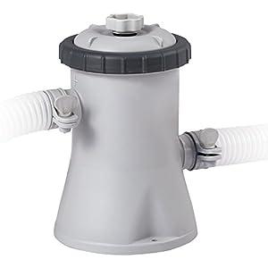 Intex 28602 Pompa Filtro Depuratore a Cartuccia easy-frame, flusso d'acqua: 1.250 l/h, flusso di sistema: 1.136 l/h. , 17.5 x 14 x 21 cm, Grigio/Nero