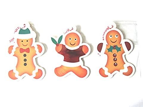 12 Luxury Christmas Gingerbread Men Gift Tags