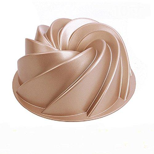 Johnson & Sookie Molde Bundt Cake/Moldes Para Tortas/ Kranz-Kuchen (9,4 x 3,8pulgadas de profundidad)
