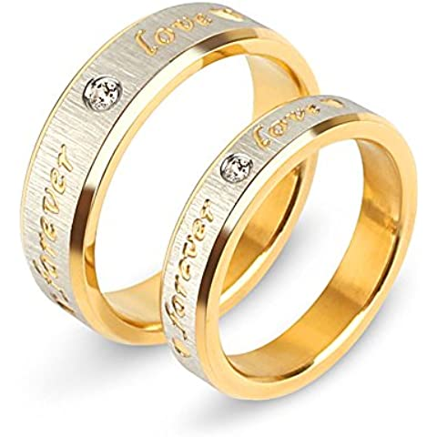 Littlefinger Lover Luxury Forever Love Gold Couple Rings Titanium Steel Classic Fashion Jewelry