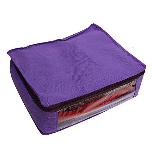 Zadmus Large Non-Woven Saree / Garment Bag, Purple
