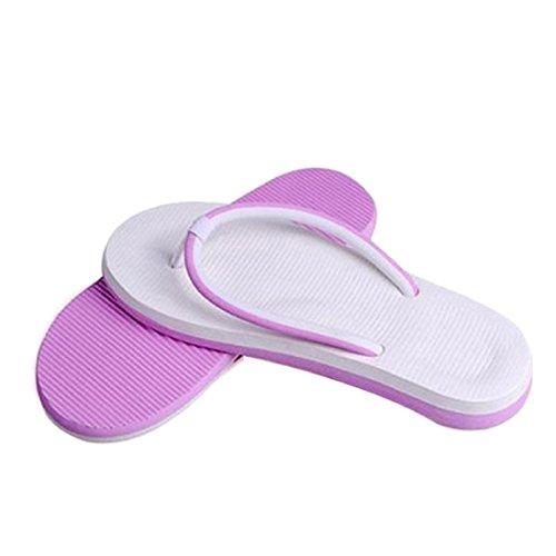 Chanclas Hombres Mujeres,Xinan Flip-Flops los Deslizadores de los Amantes (CN 36, Rosado)