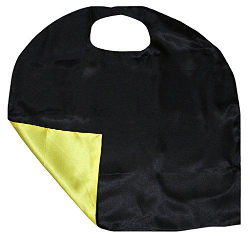 arbe Satin Cape Unisex-Kleidung-Kostüm-Zusatz 3-8y Einheitsgröße Schwarz Gelb ()