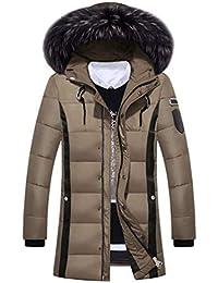 Huixin Piumino Invernale da Uomo con Pelliccia Cappuccio Warming in Ragazzo  Sintetica Cardigan Cappotto Invernale Capispalla f2cc4504591