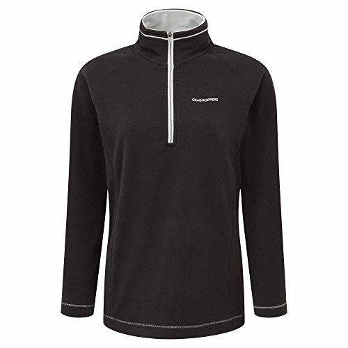 Craghoppers Damen Outdoor Reise Seline Half Zip Fleecepullover Fleece, Black, 40 Micro Performance Fleece-pullover