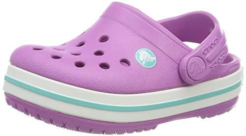 Crocs Unisex-Kinder Crocband Kids Clogs, Pink (Violet-Pool 5pe), 23/24