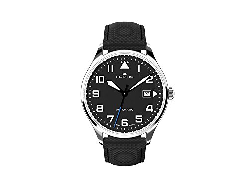 Fortis Pilot Classic Date Automatic Watch, 40mm, Black, Day, 902.20.41 LP