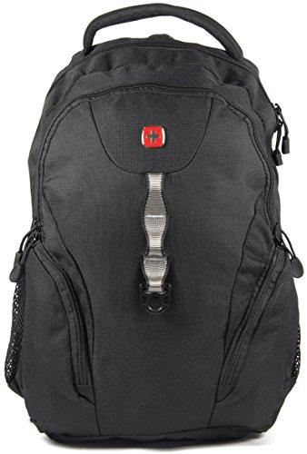 Wenger Swiss Gear mochila de viaje de negocios con compartimento para portátil 47 cm negro negro/negro