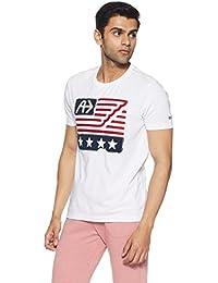 Arrow Sports Men's Printed Regular Fit T-Shirt